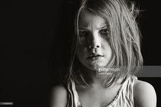 Foto de stock : Studio portrait of serious girl (6-7)