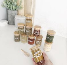 The original custom bamboo/glass herb & spice jar! The next best thing that's going to happen to your kitchen and pantry are these herb & spice jars! They make any home more organised.