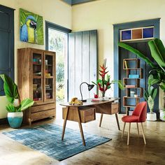Toile perroquet 90 x 90 cm CARACAS   Maisons du Monde