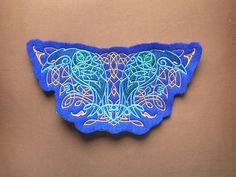Embroidered Patch / applique celtic ravens sew glue or Celtic Raven, Selection Boxes, Shield Maiden, Embroidered Patch, Felt Fabric, Ravens, Cuff Bracelets, Applique, Patches