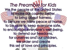 Preamble for Kids part of my Preamble Unit