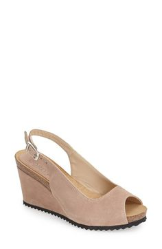 3132cdc90aa Cordani  Andrews  Slingback Suede Wedge Sandal (Women) available at   Nordstrom Slingback