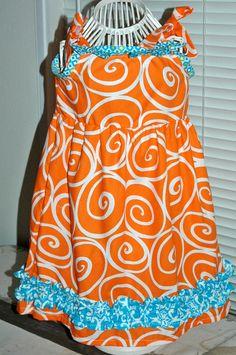 Orange Swirls Dress Size 23T by mickiesmuse on Etsy, $38.00