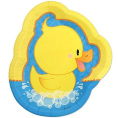 Ducky Duck - Baby Shower Dinner Plates - 8 ct | BigDotOfHappiness.com
