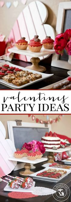 Valentines Party Ideas for Kids  with #WorldMarket - so many cute ideas including dessert bar, cookie decorating and more!