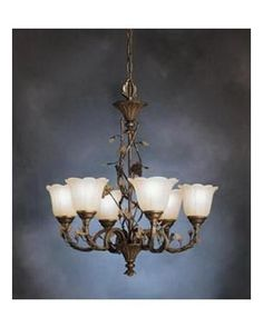 Kichler Lighting S1979 PRZ Six Light Chandelier in Parisian Bronze Finish