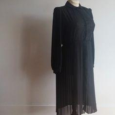 vintage 1970s women's grunge dress // vintage sheer dress // best fit med - large // minimalist dress by NVCollective on Etsy
