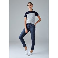 Forever 21 Mid-Rise Skinny Jeans ($30) ❤ liked on Polyvore featuring jeans, skinny leg jeans, denim skinny jeans, forever 21, mid-rise jeans and medium rise jeans