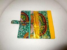 Portefeuille wax jaune vert et or (envoi 0€) : Porte-monnaie, portefeuilles par cewax