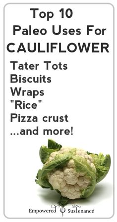 paleo uses for cauliflower