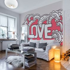 We love this interior! <3 Wall mural by PIXERS www.pixersize.com
