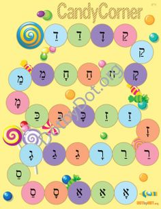 Skills covered: Differentiating Kammatz, Patach and Tzereh letters  Content: 1 board with a mixture of Kammatz, Patach and Tzereh letters.  Includes:  1 - 8.5 x 11 full color game board, 1 game spinner, game title and game directions. All files will be e-mailed as a PDF