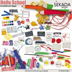 Save 35% off Hello School Embellishment Biggie