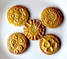 Personalized Cookie Stamps from Salt Dough or Polymer Clay