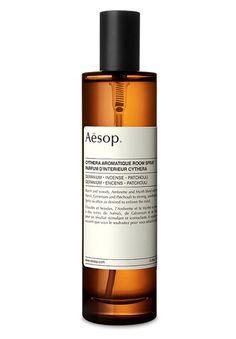 Warm, woody and spicy, Aesop's Cythera Aromatique Room Spray seamlessly blends notes of neroli, geranium and patchouli to stirring, unorthodox effect. Let it create an inviting atmosphere in your living space for hours on end. Home Scents, Home Fragrances, Aesop Products, Candle Diffuser, Perfume, Fragrance Parfum, Castor Oil, Jars, Beauty