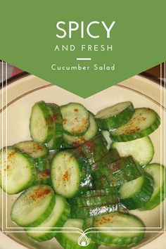 Spicy and Fresh Cucumber Salad recipe