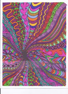 DESIGN I COLORED WITH SHARPIES