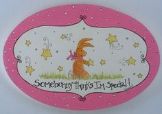Somebunny Thinks I'm Special Wall Plaque - Girl