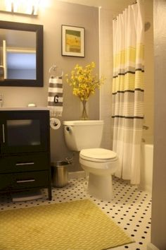 50 Beautiful Yellow White Bathroom Ideas