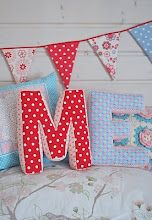 Letter Pillow Tutorial...use the Google translate button to translate tutorial to English
