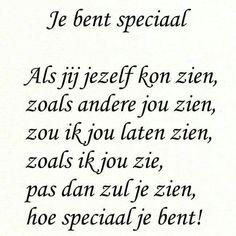 Je bent speciaal