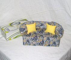 Überzug für Taschentücherbox - Minisofa