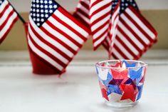 Patriotic Star Votive Holders