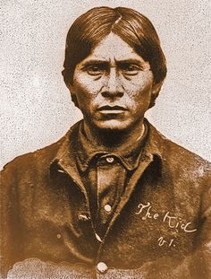 "While scouting for the U.S. Cavalry during the 1880s, he was known as the Apache Kid. His people called him Haskaybaynayntayl, which means ""brave and tall and will come to a mysterious end."" Quite a fitting name, since he disappeared after escaping during a transport to Arizona's Yuma Territorial Prison in 1889.  – True West Archives –"