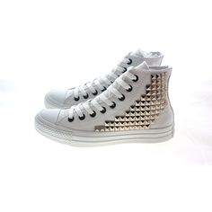 Studded Converse by CUSTOMDUO on ETSY ($125) via Polyvore