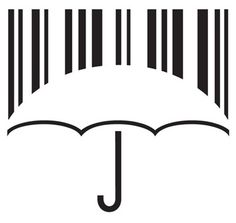 Consumer Society and Citizen Networks - Agency: Jovan Rocanov (Serbia) for Kaffeine Communications (Kiev, Ukraine) Barcode Art, Barcode Tattoo, Graphic Design Posters, Graphic Design Illustration, Umbrella Tattoo, Icon Design, Logo Design, Logo Samples, Clever Logo