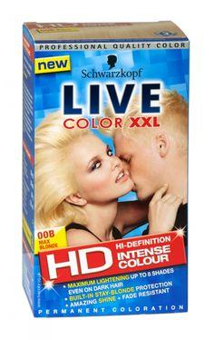 Schwarzkopf live color xxl hd hair colour 00b max blonde Live Colour Xxl, Schwarzkopf Live Colour, Dark Hair, Health And Beauty, Hair Color, Colours, Coloring, Haircolor, Hair Dye