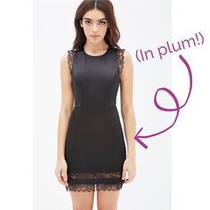Forever 21 Plum Lace Trim Dress