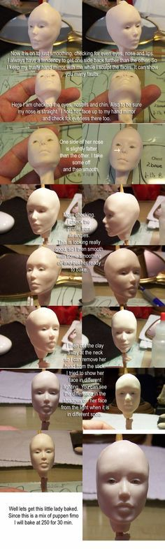 5 - Face Tutorial for Logan Polymer Clay Figures, Polymer Clay Sculptures, Polymer Clay Dolls, Sculpture Clay, Sculpting Tutorials, Doll Making Tutorials, Clay Tutorials, Miniature Tutorials, Bjd