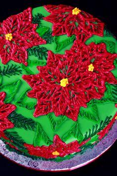 Christmas Poinsettia Cake Tutorials - Celebration Generation