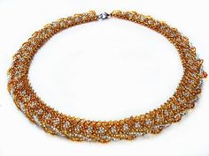 Free pattern for necklace Gold | Beads Magic