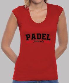 Camiseta Mujer, estilo béisbol, blanca y roja