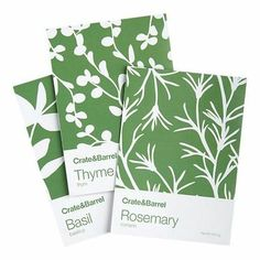 Herb Seed Packets | Crate and Barrel / graphic designs - Juxtapost