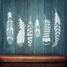 Try stencils instead of wall decals! Cutting Edge Stencils offers the best stencils for DIY decor - stencils designed by professional decorative painters Janna Makaeva and Greg Swisher. We stand behind our product and are proud to have 100% positive feedback :)  Feathers are so trendy in today's home decor. Our Feather stencil kit has undeniable rustic boho influences and also can be used in woodland themed nurseries with native american indian tee pee decor. There is so much variety in our…