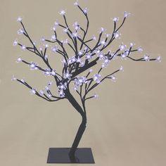 "23"" Cool White 96 LED Lights Bonsai Flower Tree Night Light Lamp"