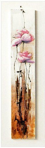 Contemporary Wall Art Flower Painting On Wood 120 x 30 cm Price : £32.99 http://www.bronzebarngallery.com/Contemporary-Wall-Flower-Painting-Wood/dp/B00BEE9RAU