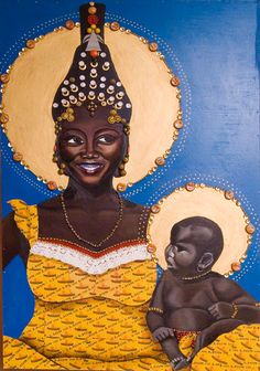 Claire Berlein's Lion Match Blacks In The Bible, Images Of Mary, African Paintings, I Saw The Light, Africa Art, Black Artists, Children Images, Art For Art Sake, Blessed Mother
