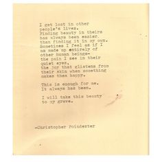 The Universe and Her, and I poem #197 written by Christopher Poindexter