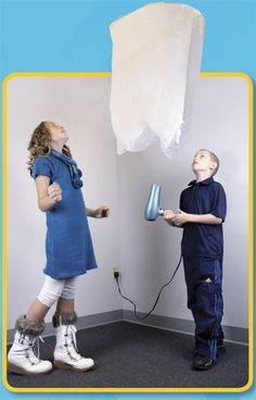 Make a hot air balloon from a plastic bag, then watch it float away. Jack And Jill, Hot Air Balloon, Nursery Rhymes, School Stuff, Balloons, Plastic, Science, Cold, Magazine