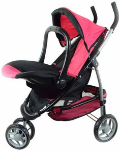Amazon.com : The New York Doll Collection 2-1 Doll Stroller with Car Seat : Baby Doll Strollers : Toys & Games