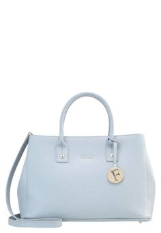 "Furla. LINDA  - Handbag - azzurro . #BlueBag Pattern:plain. Fastening:Magnet. Compartments:mobile phone pocket. length:12.5 "" (Size One Size). width:6.0 "" (Size One Size). Lining:nylon,Viscose. carrying handle:4.0 "" (Size One Size). Outer mat..."