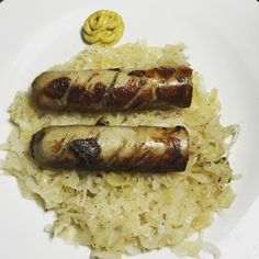 Beer brats and sauerkraut with spicy brown mustard. #keto #ketofam #ketofood #ketolunch #ketogenic #lchf #lowcarb #lowcarbhighfat by keto_jen.ic