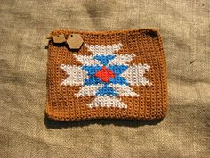 Crochet Aztec Clutch Giveaway going on over at Oikoshandmade.com