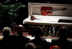 Chuck Berry was laid to rest at an emotional service in St Louis yesterday