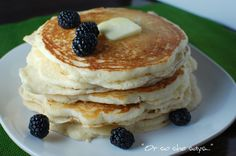 My FAVORITE Buttermilk Pancakes! yummy, yummy, yummy. - Or so she says...