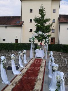 Wedding in Chateau Krakovany, Slovakia, Europe - nice place, lovely people and perfect cuisine. It was raining all around and we still had the ceremony at the courtyard in shiny and sunny atmosphere. Nice Place, Europe, Table Decorations, Weddings, Places, People, Home Decor, Kitchens, Homemade Home Decor